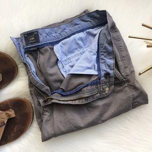 J. Crew Club Chino Shorts 32 10.5 Gray Pants